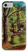 Sisters At Wason Pond IPhone Case by Sean Connolly