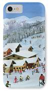 Ski Whizzz IPhone Case by Judy Joel