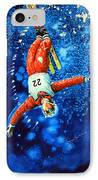 Skier Iphone Case IPhone Case by Hanne Lore Koehler