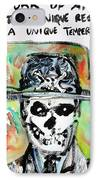 Skull Quoting Oscar Wilde.1 IPhone Case