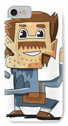 Smart Guy Doodle Character IPhone Case by Frank Ramspott
