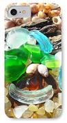 Smiley Face Beach Seaglass Blue Green Art Prints IPhone Case