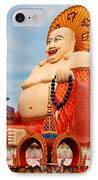 smiling Buddha IPhone Case by Adrian Evans