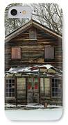 Snow On The General Store IPhone Case by Benanne Stiens