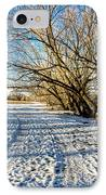 Snow Road IPhone Case by Baywest Imaging
