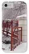 Snow Way Or No Way IPhone Case by Irfan Gillani