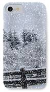 Snowstorm Coming IPhone Case by Beverly Guilliams