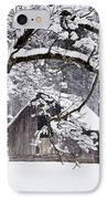 Snowy Barn 2 IPhone Case