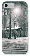 Snowy Winter Night - Sutton Place - New York City IPhone Case