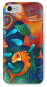 Something's Fishy IPhone Case by Debbie McCulley