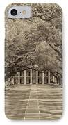 Southern Time Travel Sepia IPhone Case by Steve Harrington
