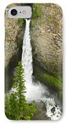 Spahats Falls Waterfall In Wells Gray Provincial Park IPhone Case