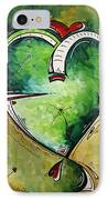 Spirit Of The Heart By Madart IPhone Case by Megan Duncanson