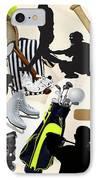 Sports Sports Sports IPhone Case by Susan  Lipschutz