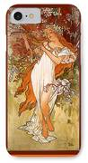 Spring IPhone Case by Alphonse Maria Mucha