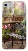 Spring - Bench - A Place To Retire  IPhone Case by Mike Savad