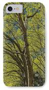 Spring Time In Bryant Park New York IPhone Case by Angela A Stanton