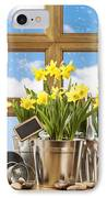 Spring Window IPhone Case by Amanda Elwell