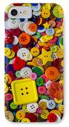 Square Button IPhone Case by Garry Gay