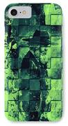 Square Mania - Old Man - Limeblue IPhone Case