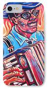Squeezebox Blues IPhone Case by Robert Ponzio