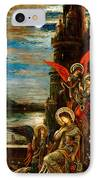 St Cecilia The Angels Announcing Her Coming Martyrdom IPhone Case by Gustave Moreau