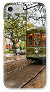 St. Charles Ave. Streetcar In New Orleans IPhone Case by Kathleen K Parker