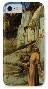 St Francis Of Assisi In The Desert IPhone Case