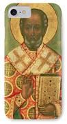 St. Nicholas IPhone Case by Russian School