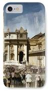 St Peters Square - Vatican IPhone Case by Jon Berghoff