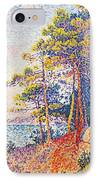 St Tropez The Custom's Path IPhone Case by Paul Signac
