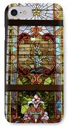 Stained Glass 3 Panel Vertical Composite 02 IPhone Case by Thomas Woolworth
