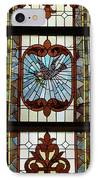 Stained Glass 3 Panel Vertical Composite 05 IPhone Case by Thomas Woolworth