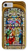 Stained Glass Window Cathedral St Augustine IPhone Case by Christine Till