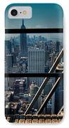 Stairways On Top Of Rockefeller Center IPhone Case by Amy Cicconi