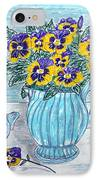 Stangl Pottery And Pansies IPhone Case