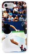 Stanislas Wawrinka In Action IPhone Case by Nishanth Gopinathan