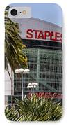 Staples Center In Los Angeles California IPhone Case by Paul Velgos