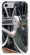 Steam Locomotive Coupling Rod And Driver Wheels IPhone Case