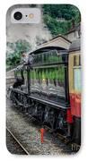 Steam Train 3802 IPhone Case by Adrian Evans