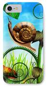Steampunk - Bugs - Evolution Take Time IPhone Case by Mike Savad