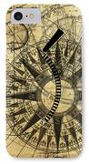 Steampunk Gold Compass IPhone Case