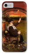 Steampunk - The Gentleman's Monowheel IPhone Case by Mike Savad