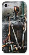 Steampunk - The Steam Engine IPhone Case by Mike Savad
