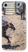 Steer Tripping IPhone Case by Daniel Hagerman
