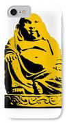 Stencil Buddha Yellow IPhone Case