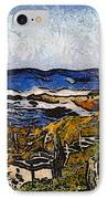 Steps To The Sea Abstract IPhone Case by Barbara Snyder