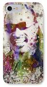 Stevie Wonder Portrait IPhone Case by Aged Pixel