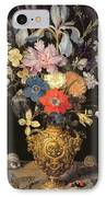 Still Life With Flowers, C.1604 IPhone Case by Georg Flegel