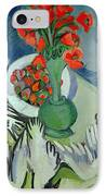 Still Life With Seagulls Poppies And Strawberries IPhone Case